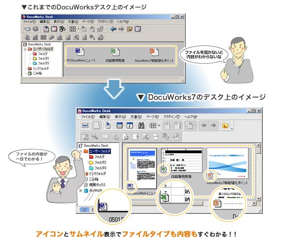 DocuWorks 7.2ではサムネール表示がさらに強化!